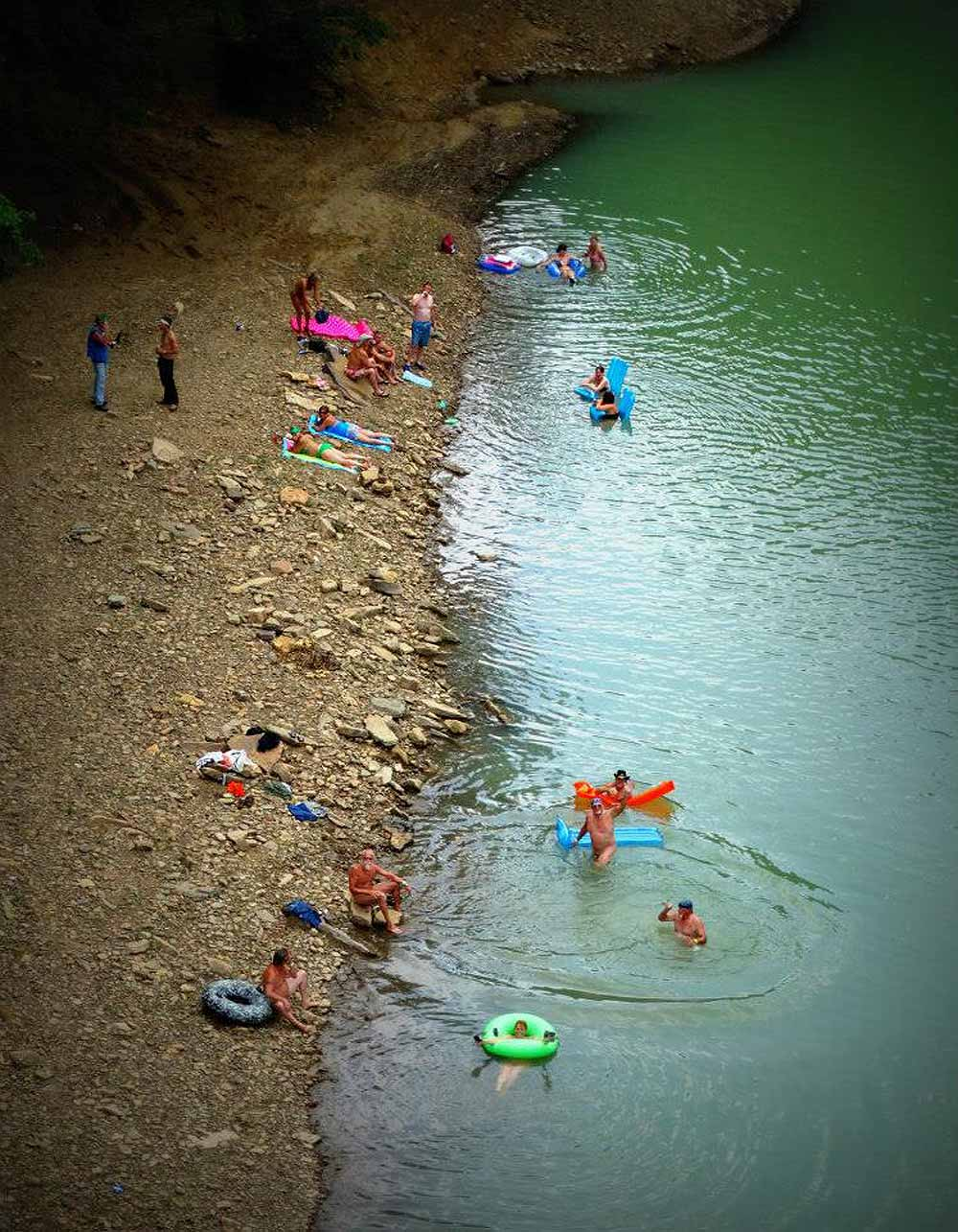 Playing in the Mulberry River