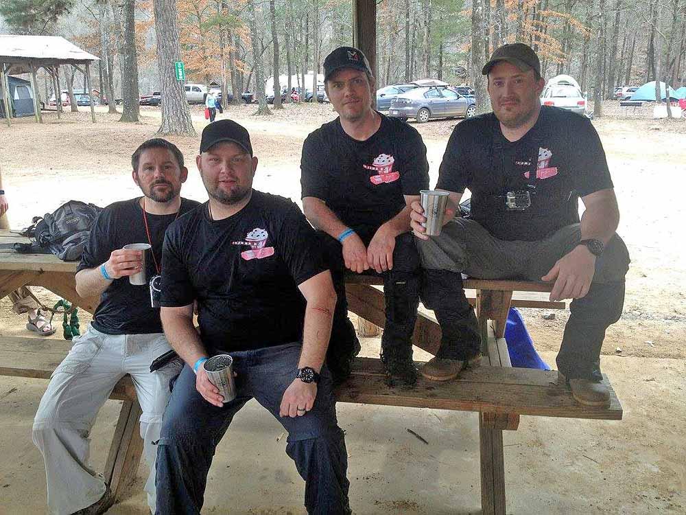 Team Muffin Commando Squad Left to right Daniel Goodwin, Dustin Cole Sanders, Ellis Gregory, Jeff Morrow