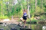 Time for a little yoga at Blue Hole.