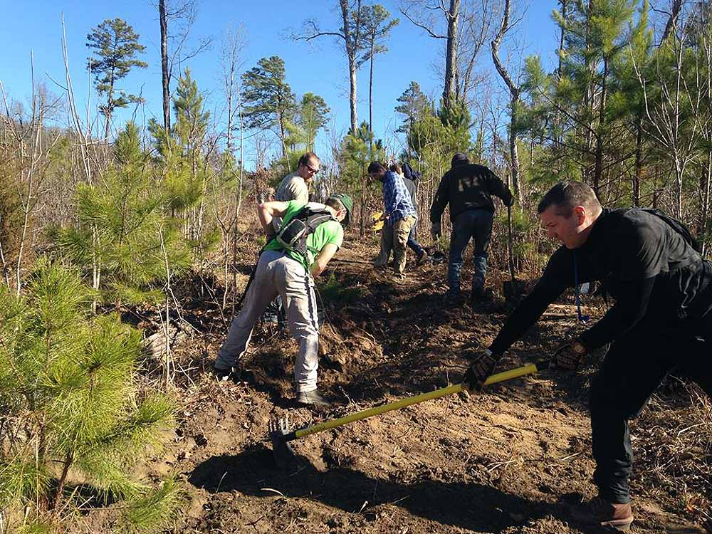 Volunteers assist FOST with sections of the Syllamo Trail System.