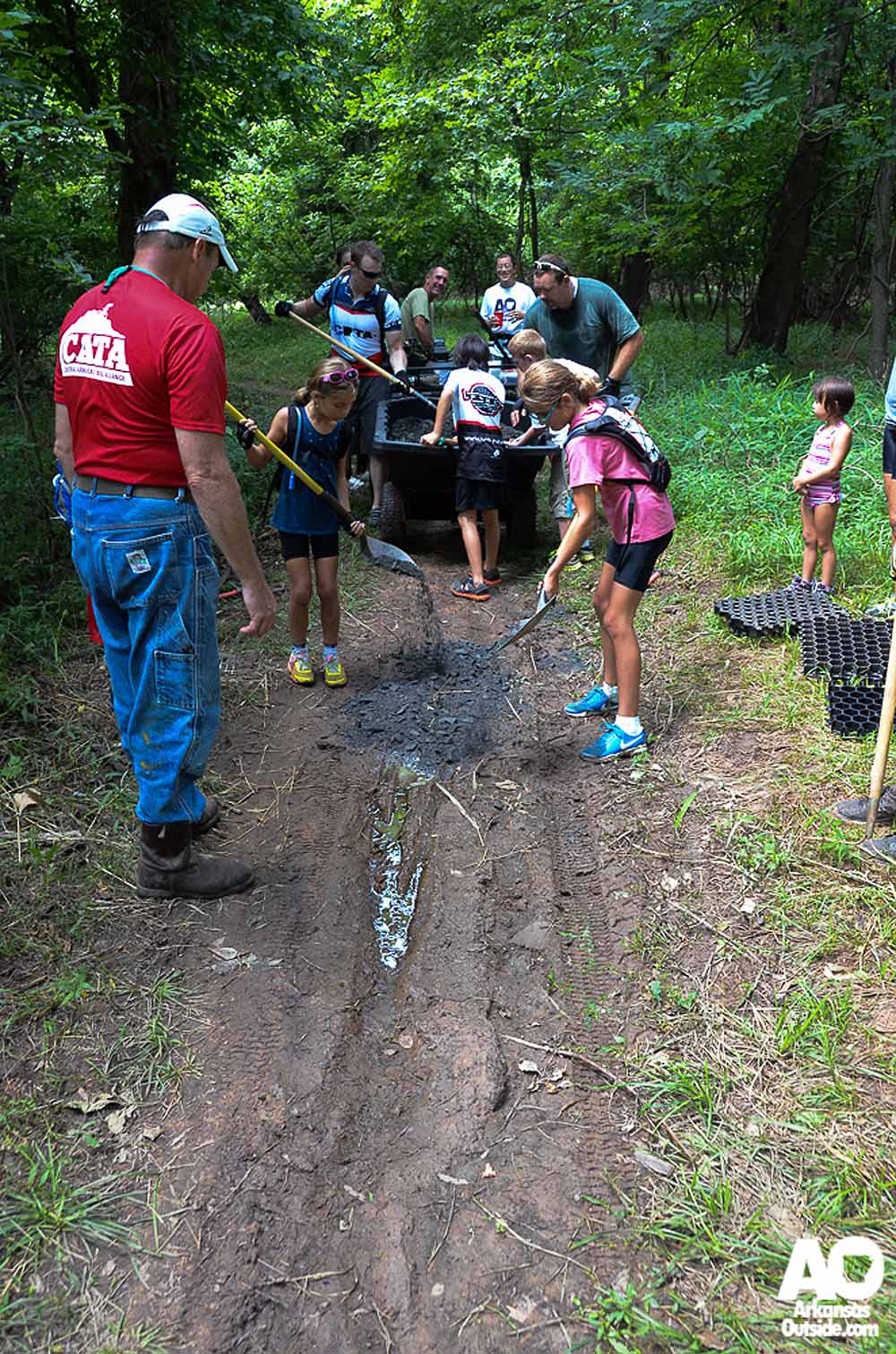 CATA getting kids involved in trail work.