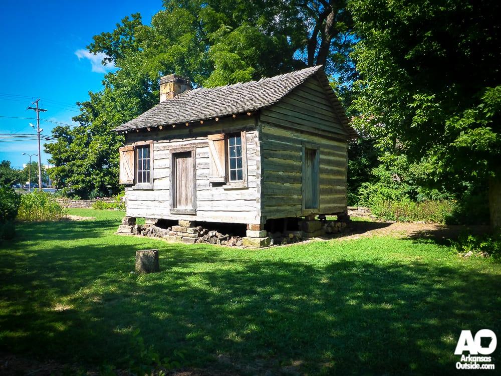 The log cabin.