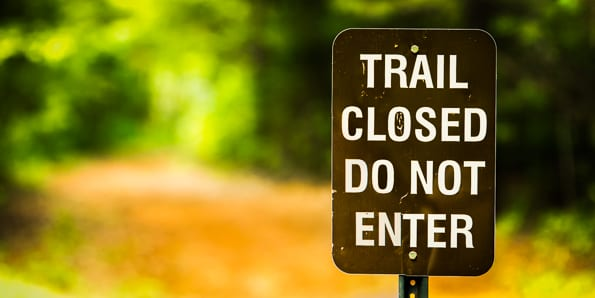 Dennis Moore Trail Closed