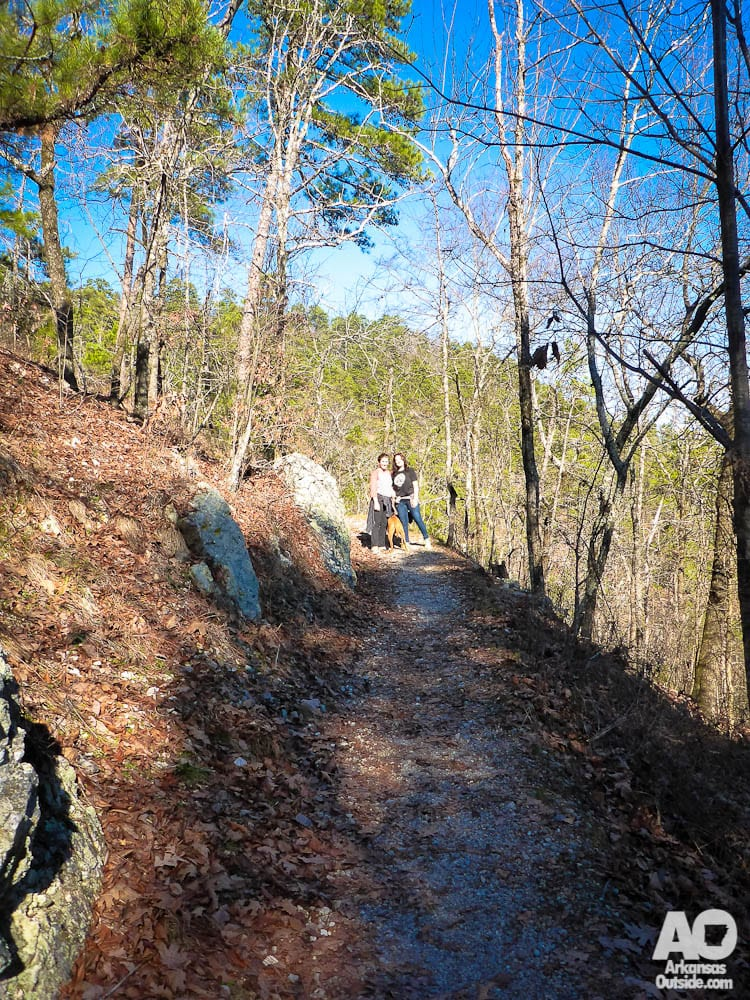 On the trails of Hot Springs National Park.