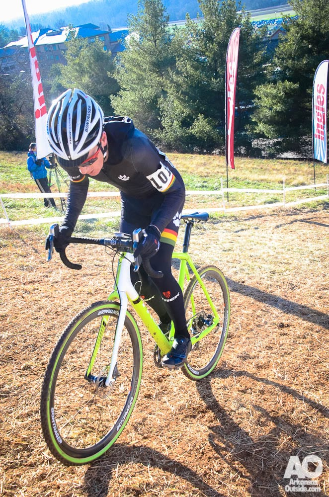 A racer nails the climb up Ingles Heckler Hill.