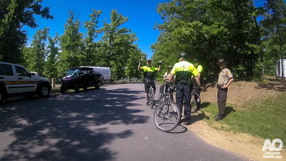 Even the Arkansas State Parks rolling patrol was there to lend a hand.