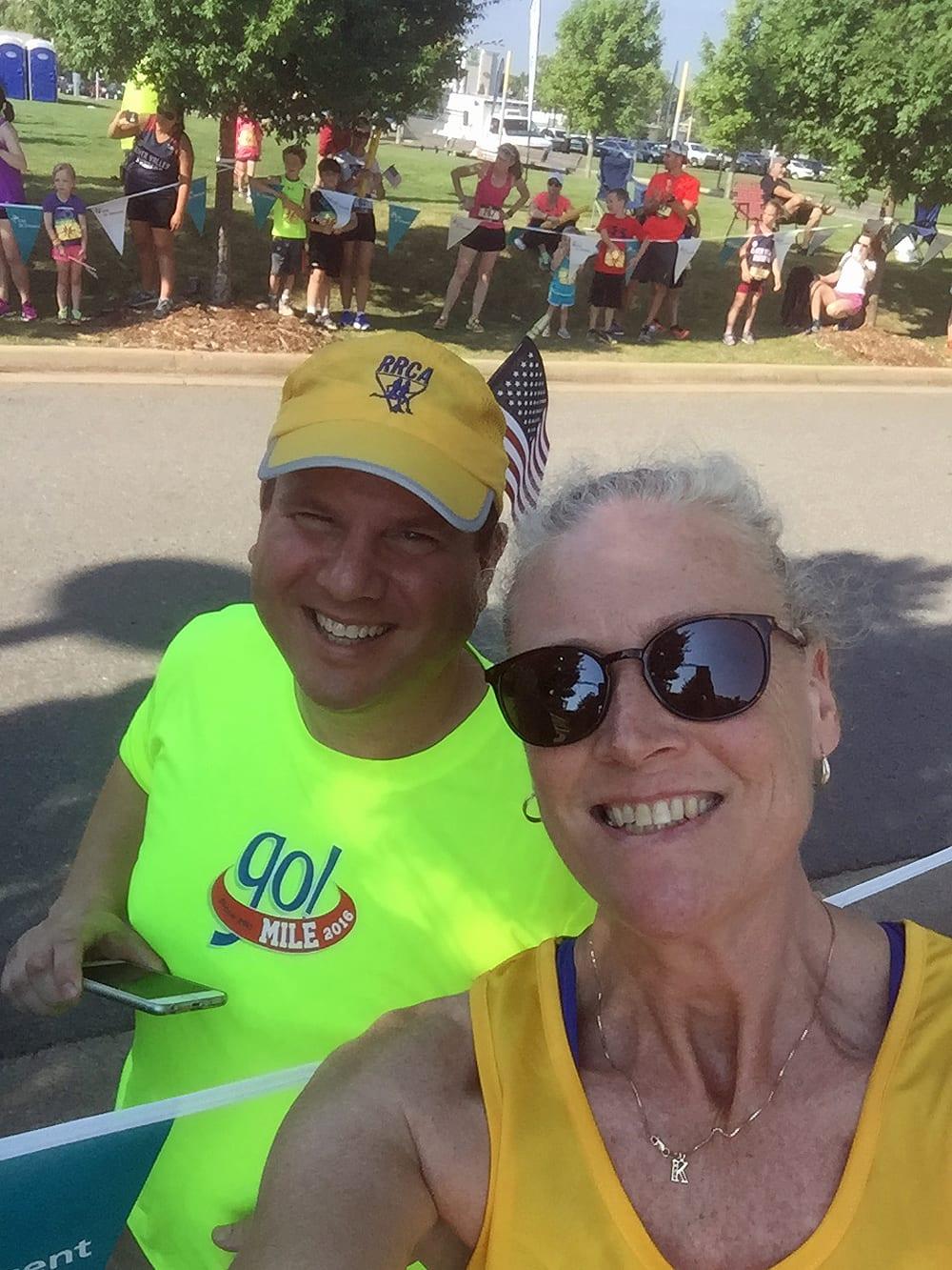 Local running hero David Meroney  with K2.