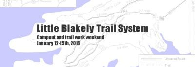 Little Blakely Campout and Trail Work Weekend @ Little Blakely Trail System | Mountain Pine | Arkansas | United States