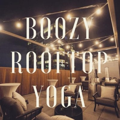 Boozy Rooftop Yoga @ Agasi Rooftop Bar | North Little Rock | Arkansas | United States