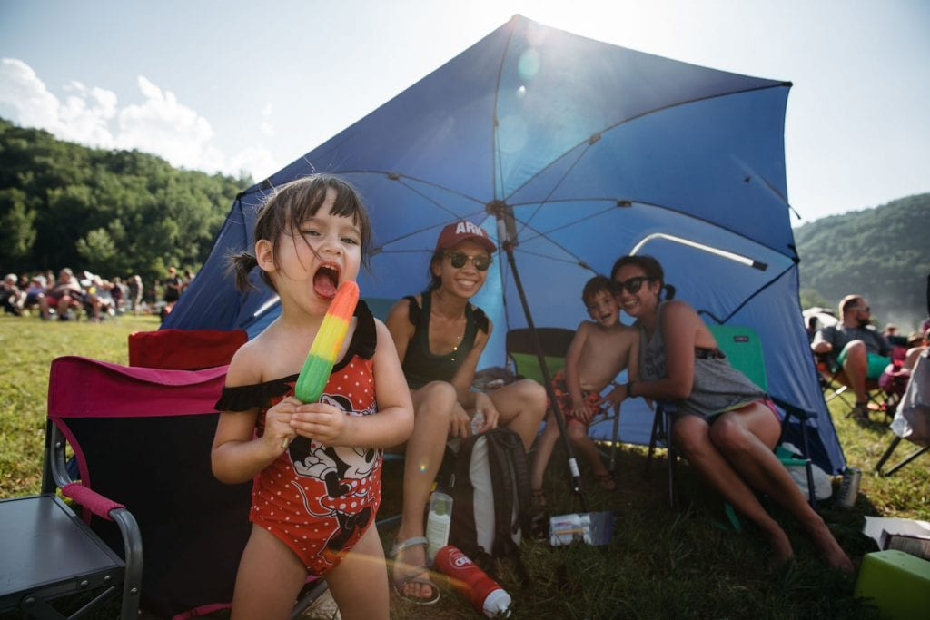 Concert goers enjoyed ice cream and other treats from on-site food vendors. Photo: Terra Fondriest