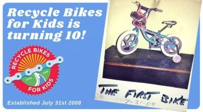 Recycle Bikes for Kids 10th Anniversary Party! @ Recycle Bikes for Kids | North Little Rock | Arkansas | United States
