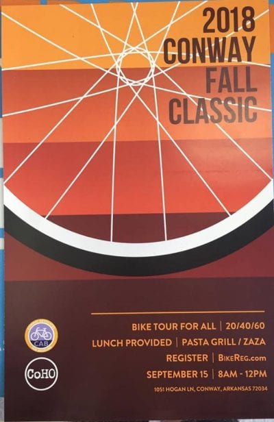 Conway Fall Classic Bike Tour @ Fellowship Bible Church | Conway | Arkansas | United States