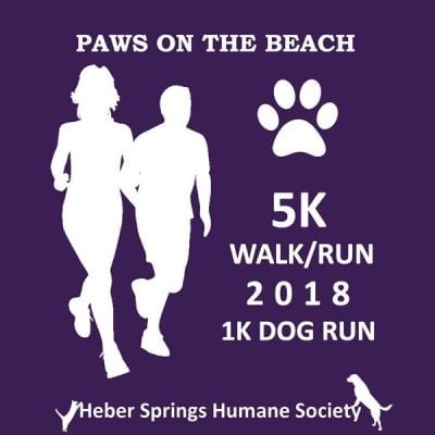 Paws at the Beach 5k/1k @ Sandy Beach | Heber Springs | Arkansas | United States