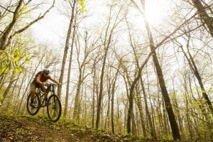 LWCF grants helped create the IMBA Epic Buffalo Headwaters Trail System. (Photo courtesy of IMBA)