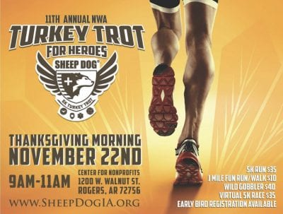 SDIA Annual NWA Turkey Trot for Heroes @ Center for Non Profit | Rogers | Arkansas | United States