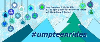 Ugly Sweaters & Lights Ride @ Woody's Sherwood Forrest