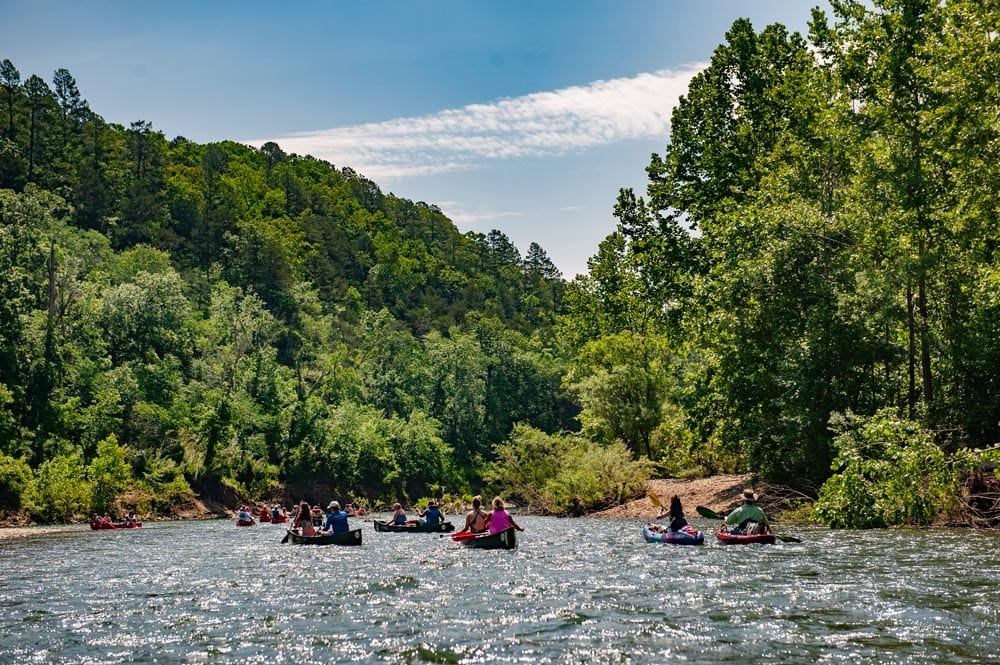 Good floating on the Buffalo National River.