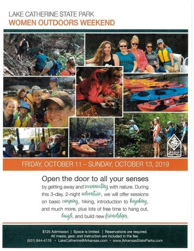 Women Outdoors Weekend - Lake Catherine State Park @ Lake Catherine State Park | Hot Springs | Arkansas | United States
