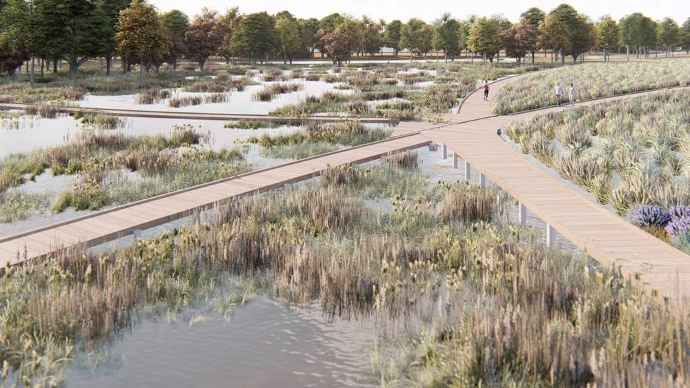 Osage Park Floating Boardwalks