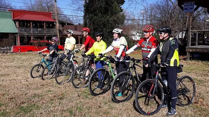Riders in Leslie, Arkansas