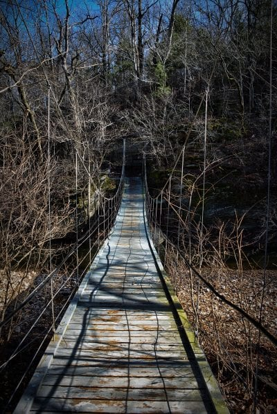 Tanyard Creek Nature Trail Suspension Bridge