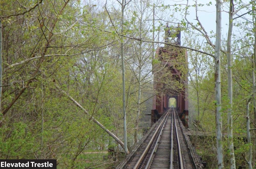 Trestle along the future Delta Heritage Trail.