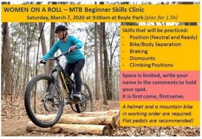 Women On A Roll - Mountain Bike Beginner Skills Clinic @ Boyle Park