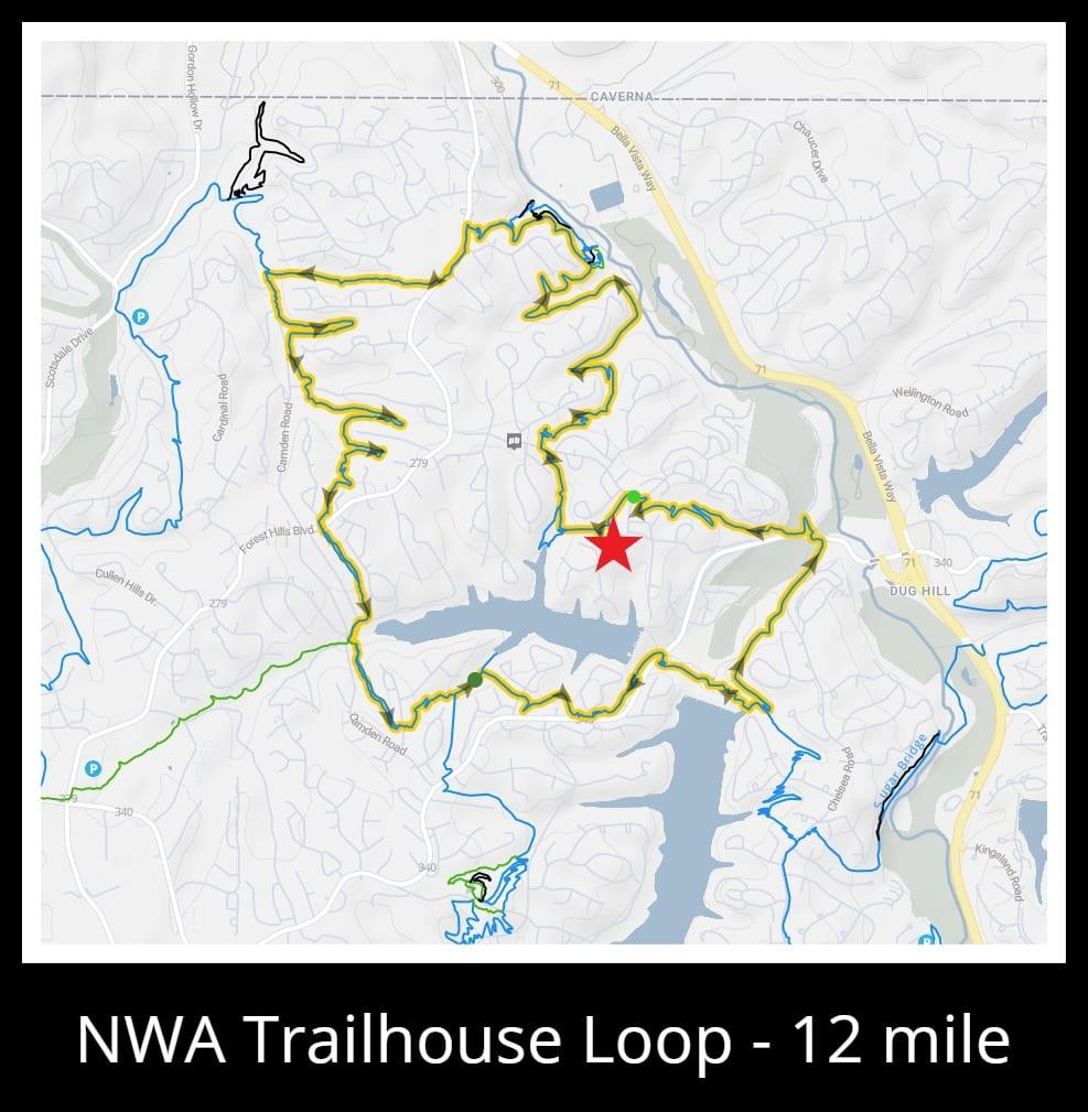 12-mile trail loop map