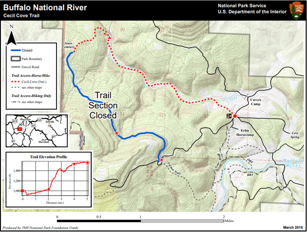 Buffalo River Map