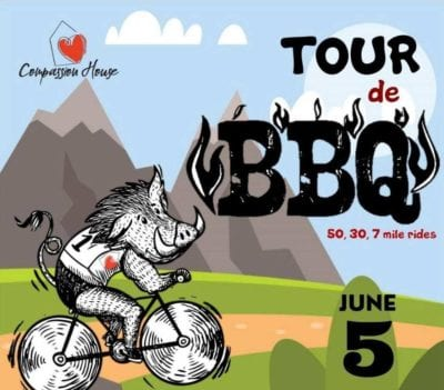 Tour de BBQ benefiting Compassion House @ Lewis and Clark Outfitters, Rogers, AR