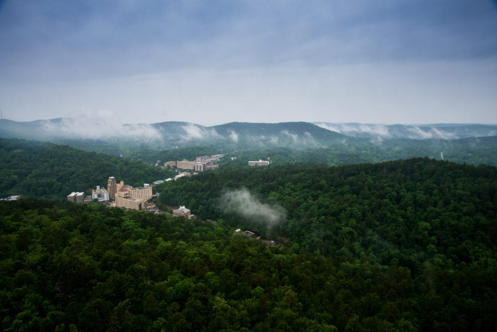 View from the Hot Springs Mountain Tower