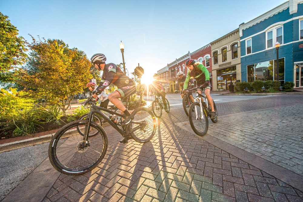 Bentonville Square - Bike and Ice Cream Friendly